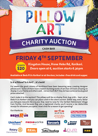 Pillow Auction Poster