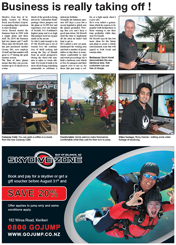 Skydive Zone Advertorial